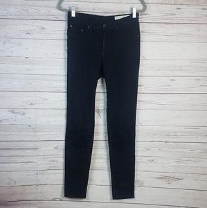 Rag & Bone The Plush Skinny Black Jeans 29